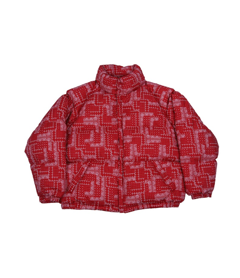 CHANCECHANCE DOWN PARKA(PAISLEY RED)