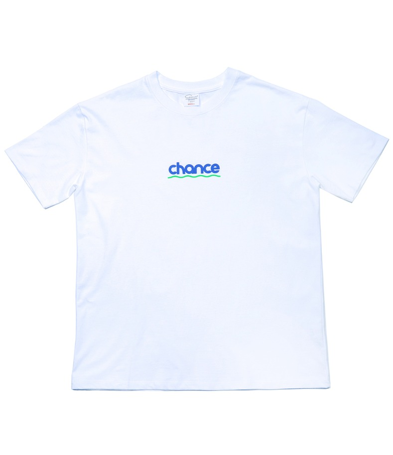 CHANCE WAVE T-SHIRT(WHITE)