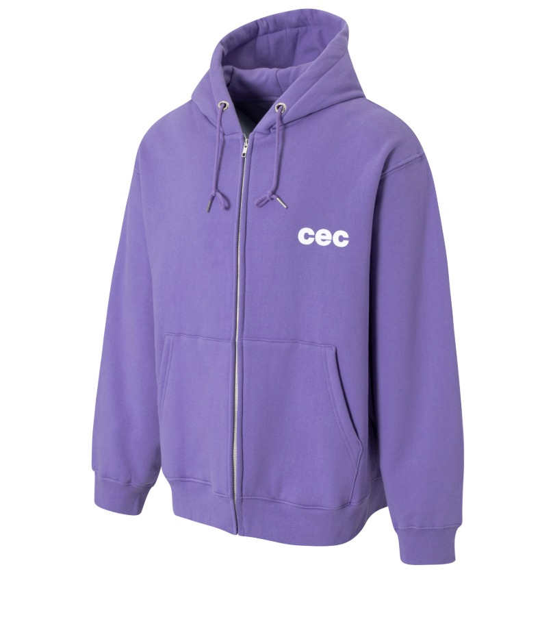 CEC ZIP-UP HOODIE(PURPLE/기모)