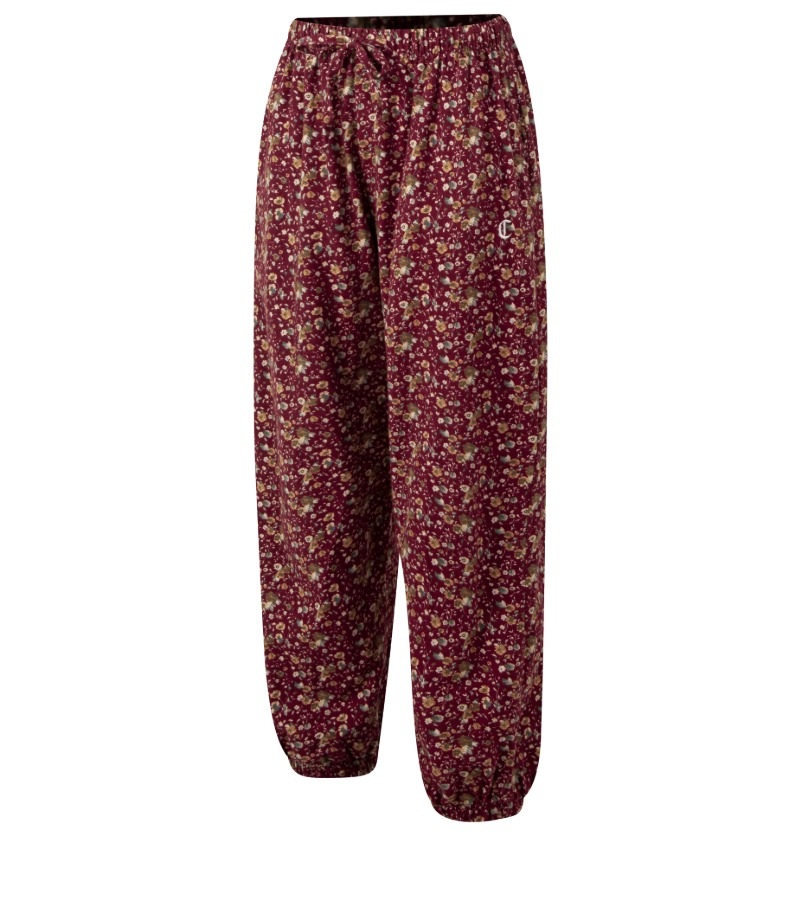 RED FLOWER LOUNGE PANTS