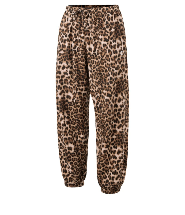 BROWN LEOPARD LOUNGE PANTS